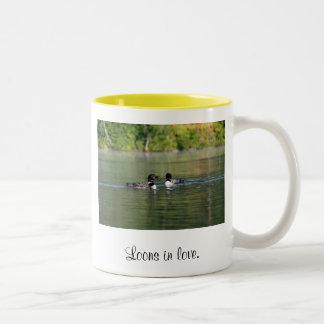 Loons in Love Two-Tone Mug