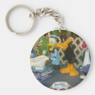 Loony Tunes Basic Round Button Key Ring