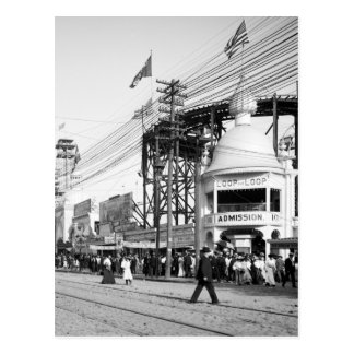 Loop the Loop Ride, Surf Avenue, Coney Island 1903 Postcard