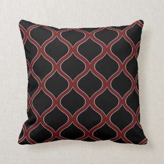 Loops Maroon Black Decor-Soft Pillows