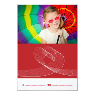 Loopy Love Heart Classroom Valentine's Day Photo 9 Cm X 13 Cm Invitation Card