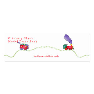Loose Caboose Clickety Clack Train Shop Pack Of Skinny Business Cards