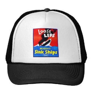 Loose Lips, Might Sink Ships Trucker Hats