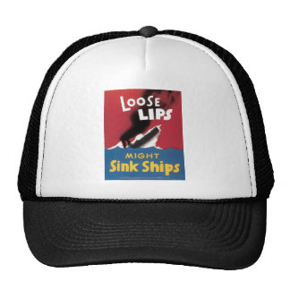 Loose Lips Might Sink Ships Mesh Hat