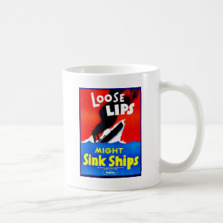 Loose Lips, Might Sink Ships Mug