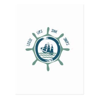 Loose Lips Sink Ships Post Card