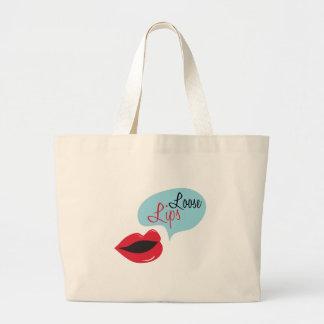 Loose Lips Jumbo Tote Bag
