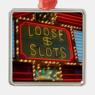 Loose slots sign on casino, Las Vegas, Nevada Christmas Ornament