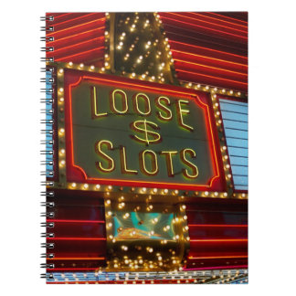 Loose slots sign on casino, Las Vegas, Nevada Note Book