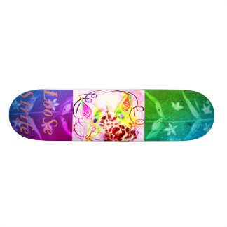 LooSe Strife Botanical Vintage RUBYK Rainbow Unico Custom Skateboard