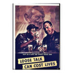 Loose Talk Can Cost Lives Custom Flyer