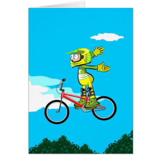 Loose young BMX of hands and unemployed in its Card