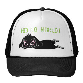 Lop ear black rabbit cap