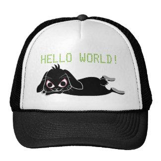 Lop ear black rabbit cap