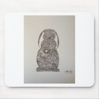 Lop eared rabbit design mouse pad