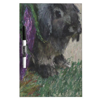 Lop eared  rabbit painting Dry-Erase whiteboards