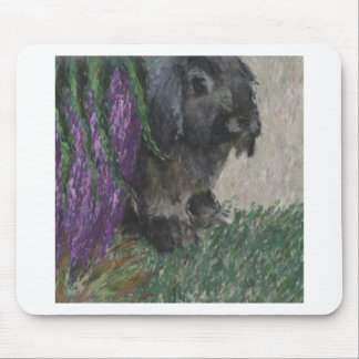 Lop eared  rabbit painting mouse mat