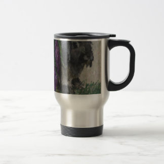Lop eared  rabbit painting travel mug