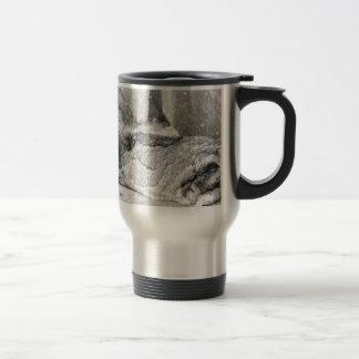 Lop  eared rabbit sleeping coffee mug