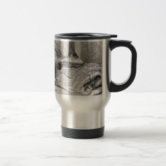 Lop  eared rabbit sleeping travel mug