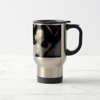 Lop Eared Siberian Husky Sled Dog Puppy 2 Coffee Mugs