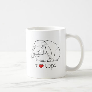 Lop Rabbit Basic White Mug