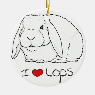 Lop Rabbit Christmas Ornament