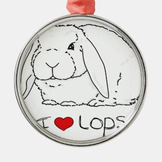 Lop Rabbit Silver-Colored Round Decoration