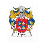 Lopes Family Crest Postcards