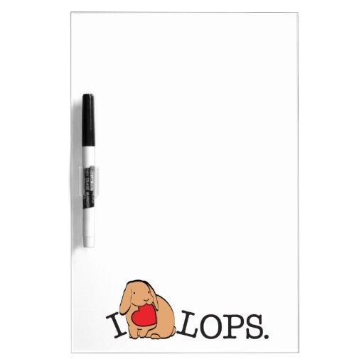 LOPS! DRY ERASE BOARD