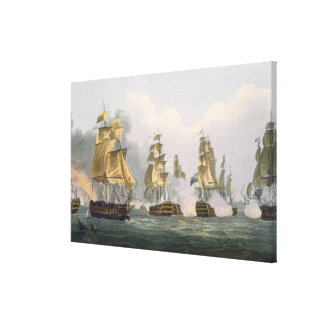 Lord Bridport's Action off Port L'Orient, June 23r Canvas Print