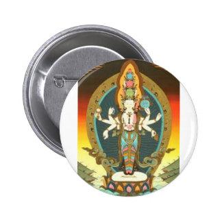 Lord Buddha 6 Cm Round Badge