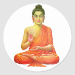 Lord Buddha Round Sticker