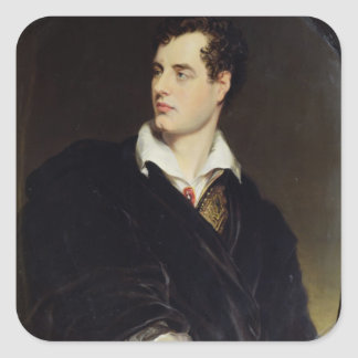 Lord Byron after a Portrait painted by Thomas Phil Square Sticker