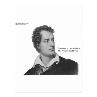 "Lord Byron ""Love W/O Wings"" Quote Gifts & Tees Postcard"