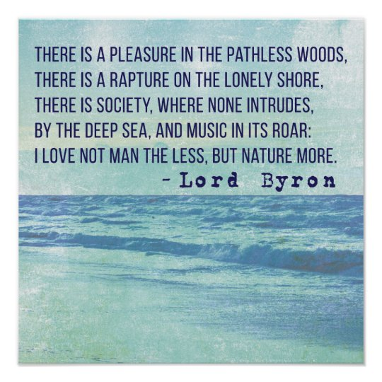 Lord Byron Nature Poetry Poster