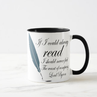 Lord Byron Reading Quote Mug Gift