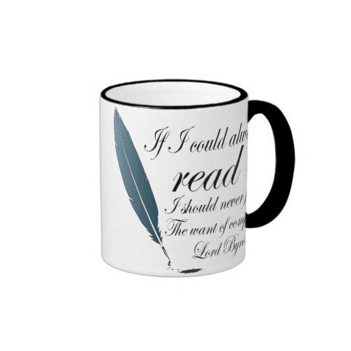 Lord Byron Reading Quote Mug Gift