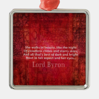 Lord Byron  Romantic Love quote art typography Christmas Ornament