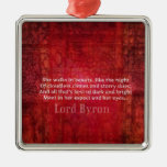 Lord Byron  Romantic Love quote art typography Ornament