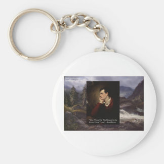 "Lord Byron ""Sweet Voice"" Quote Gifts Tees Mugs Etc Basic Round Button Key Ring"