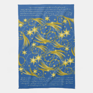Lord Byron Ye Stars! Gold Stars and Comets Tea Towel