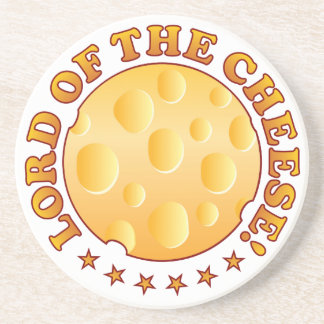 Lord Cheese Brown Sandstone Coaster