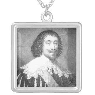 Lord Fairfax  illustration Silver Plated Necklace