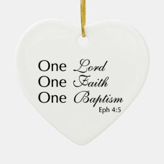 Lord Faith Baptism Ceramic Heart Decoration
