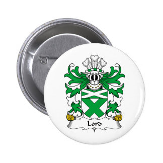 Lord Family Crest 6 Cm Round Badge
