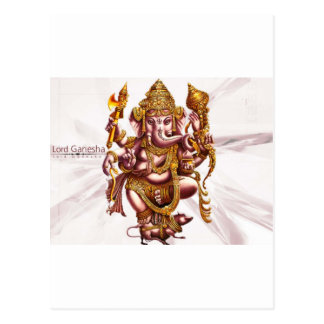 Lord Ganesa Good Luck Charm Postcard