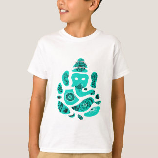 Lord Ganesh Elephant Kids' T-Shirt, White T-Shirt