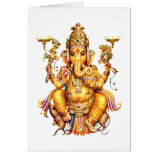 LORD GANESH HINDU GOD CARD