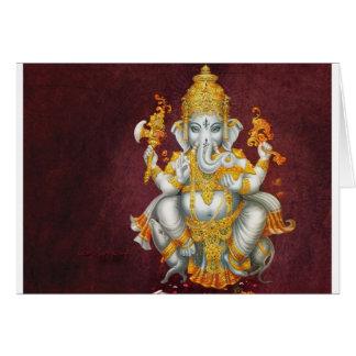 LORD GANESH HINDU GOD GREETING CARD